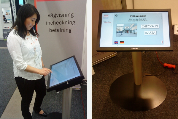 Information kiosk with touchscreen